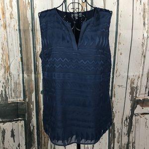 Navy blue sleeveless top, very soft